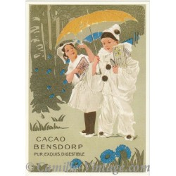 Postcard Pierrot Cacao Bensdorp