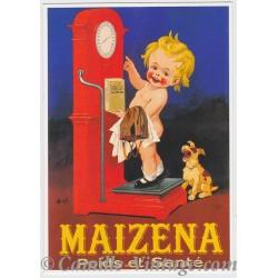 Postcard Maîzena Poids et Santé