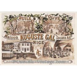 Postcard Huile d'Olive Auguste Gal