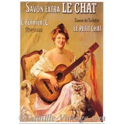 Postcard Savon Extra Le Chat