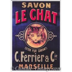 Postcard Savon Le Chat Extra Pur Garanti