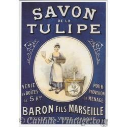 Postcard Savon de La Tulipe