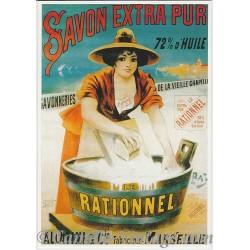 Postcard Savon Le Rationnel Extra Pur