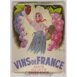 Tin signs Vins de France
