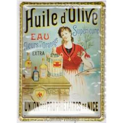 Plaque métal Huile d'Olive Propriétaire de Nice