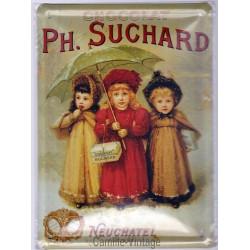 Plaque métal Chocolat Suchard Neuchâtel