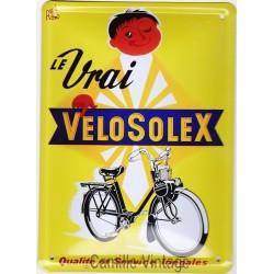 Plaque métal Le Vrai VéloSolex
