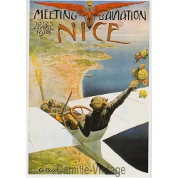 Postcard Meeting Aviation Nice