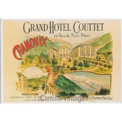 Carte Postale Chamonix Grand Hôtel Couttet