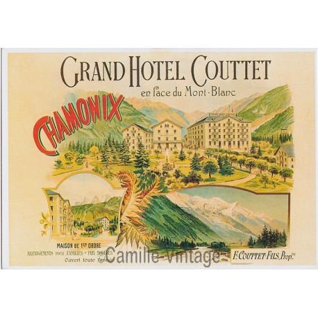 Postcard Chamonix Grand Hôtel Couttet