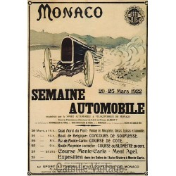 Carte Postale Monaco semaine Automobile 1922