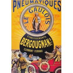 Postcard Pneumatiques Les Gaulois