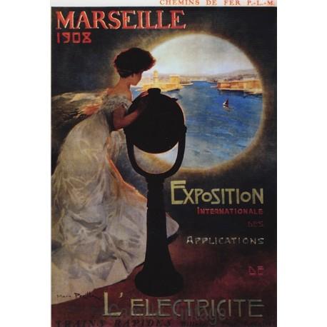 Carte Postale Chemin de Fer Marseille 1908