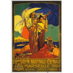 Postcard Exposition Coloniale Marseille 1922