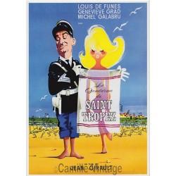 Postcard Le Gendarme de Saint-Tropez Louis De Funès