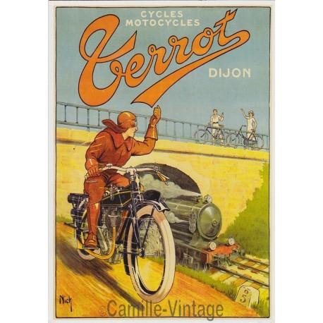 Postcard Terrot Cycles-Motocycles Dijon