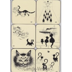 Coasters Cats by Dubout