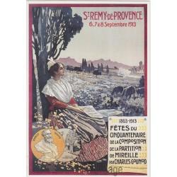 Postcard St Rémy de Provence - 1863 - 1913