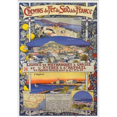 Postcard Hyères à St Raphaël