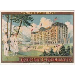 Postcard Chamonix Mont-Blanc Eté