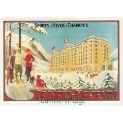 Carte Postale Chamonix Mont-Blanc Hiver