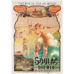 Postcard Chemin de Fer du Médoc