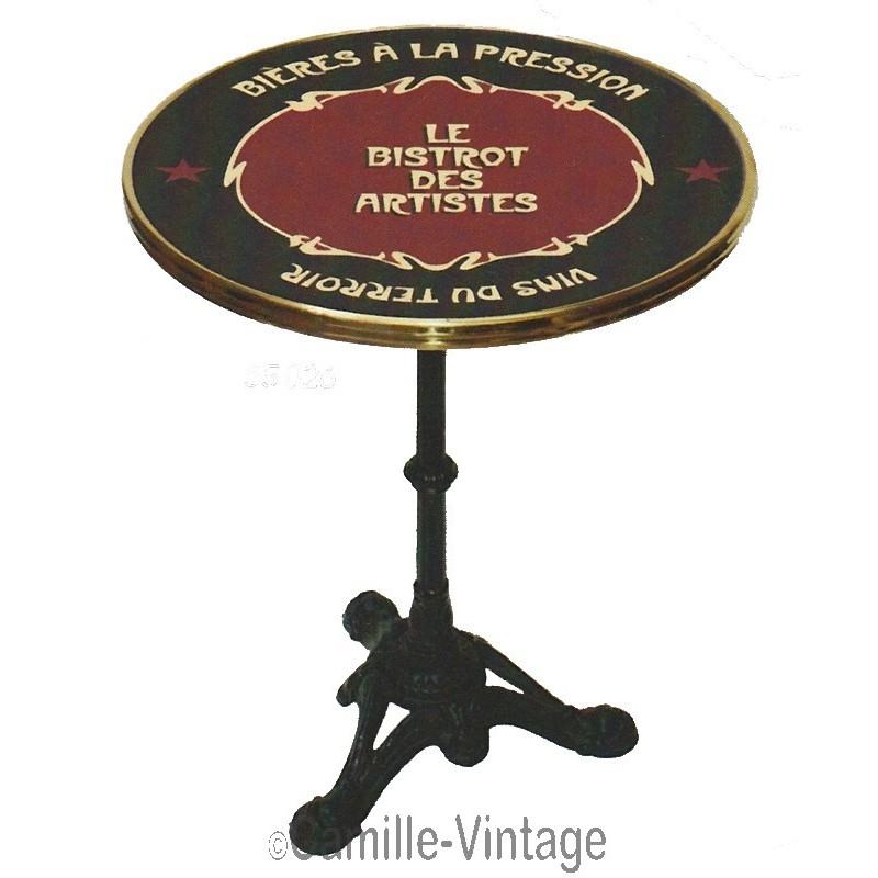 Enamel bistrot frame table made in france - Table de bistrot occasion ...