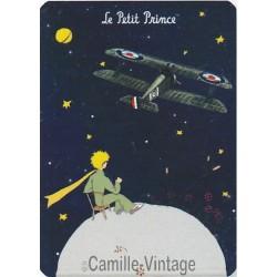 Plaque métal Le Petit Prince de Saint-Exupéry L'Avion