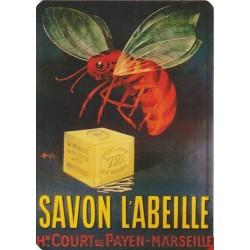 Plaque métal Savon l'Abeille - Marseille