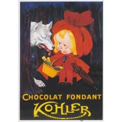 Carte Postale Chocolat fondant Kohler