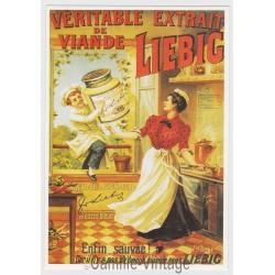 Postcard Liebig Véritable extrait de viande