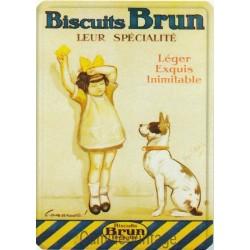 Plaque métal Biscuits Brun - Grenoble