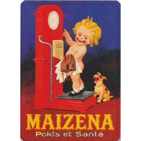 Plaque métal Maïzéna Poids et Santé
