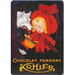 Plaque métal Chocolat Fondant Kohler