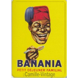 Plaque métal Banania Tête