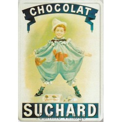 Plaque métal Chocolat Suchard Pierrot