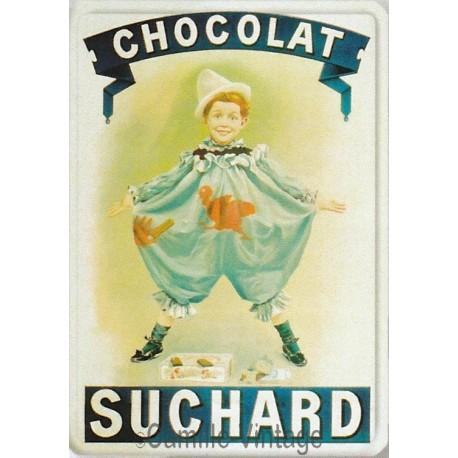 Plaque métal Chocolat Suchard Pierrot