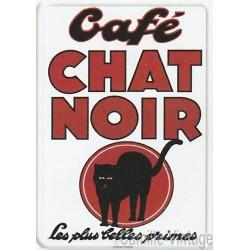 Plaque métal Café Chat Noir