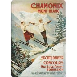 Plaque métal Chamonix Mont-Blanc Sauteurs