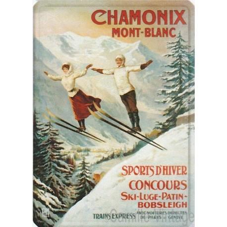 Tin signs Chamonix Mont-Blanc Sauteurs