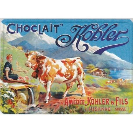 Plaque métal Choclait Kohler Lausanne-Suisse