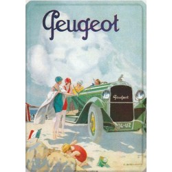 Plaque métal Peugeot