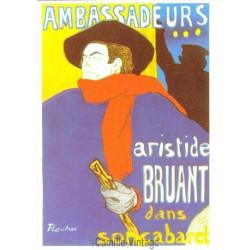 Postcard Aristide Bruant dans son Cabaret