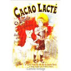 Carte Postale Cacao Lacté