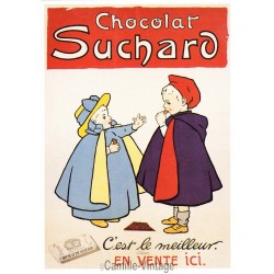 Carte Postale Chocolat Suchard 2 Enfants