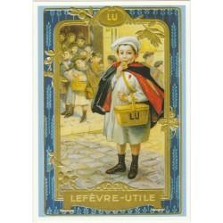 Postcard Lu Petit Ecolier Tableau