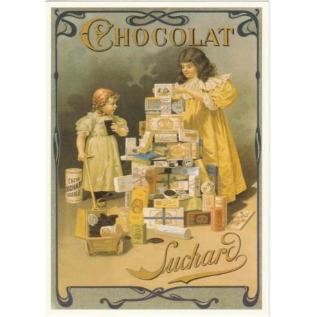 Carte Postale Chocolat Suchard Boîtes