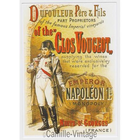 Postcard Clos Vougeot Nuits St Georges