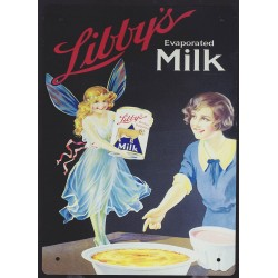 Tin signs Libby's Milk