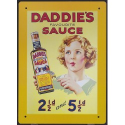 Tin signs Daddie's Sauce